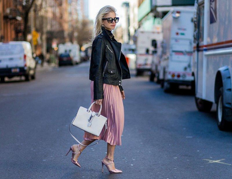 Туфли розовый металлик