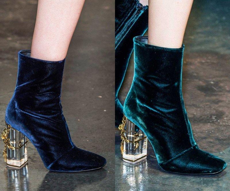 Модели осенней обуви с необычным каблуком