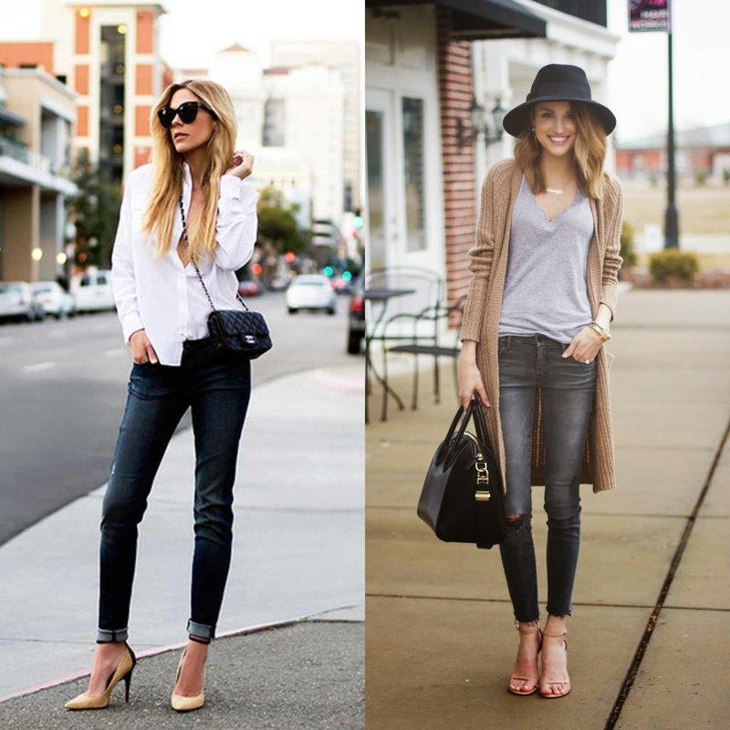 Классические модели джинс скинни