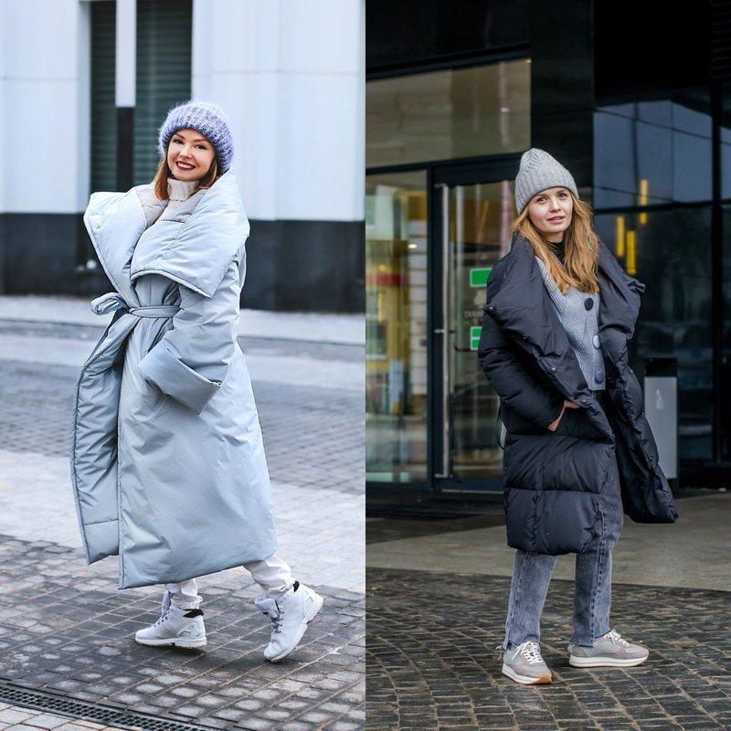 Стильные зимние образы в кроссовках