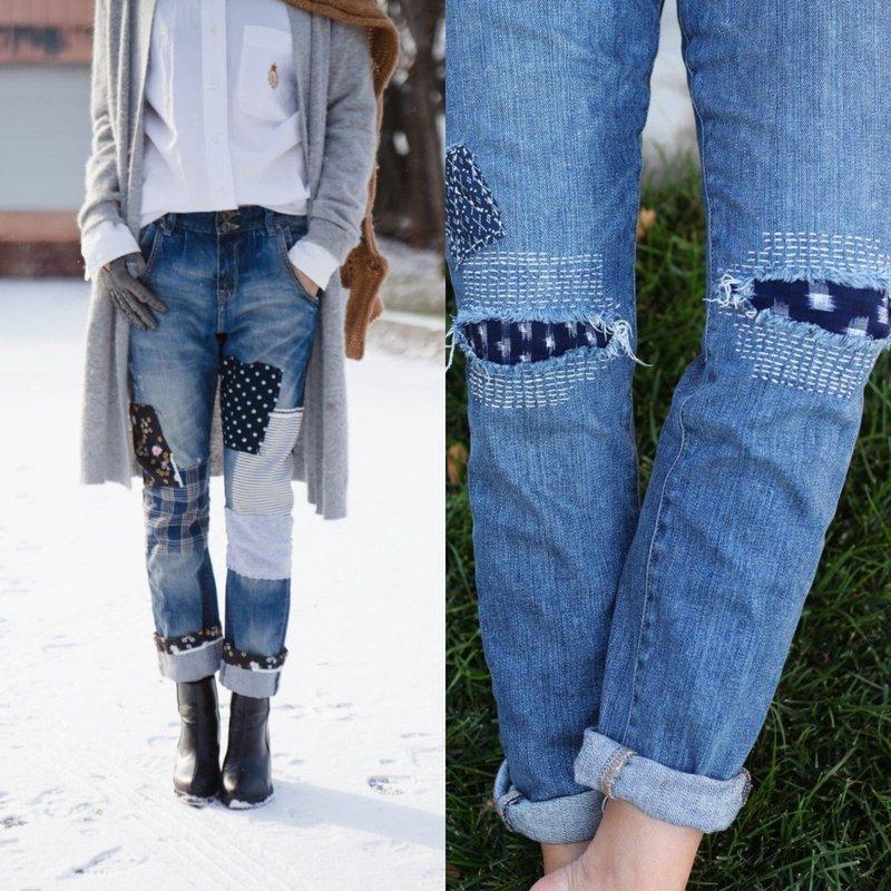 Стильные джинсы с декором