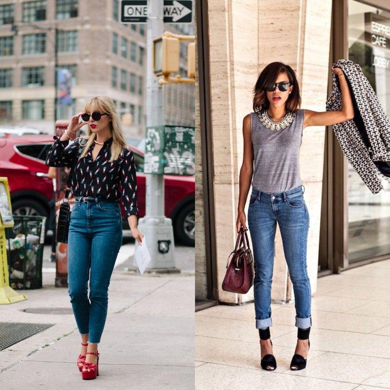 С чем носить джинсы скинни?