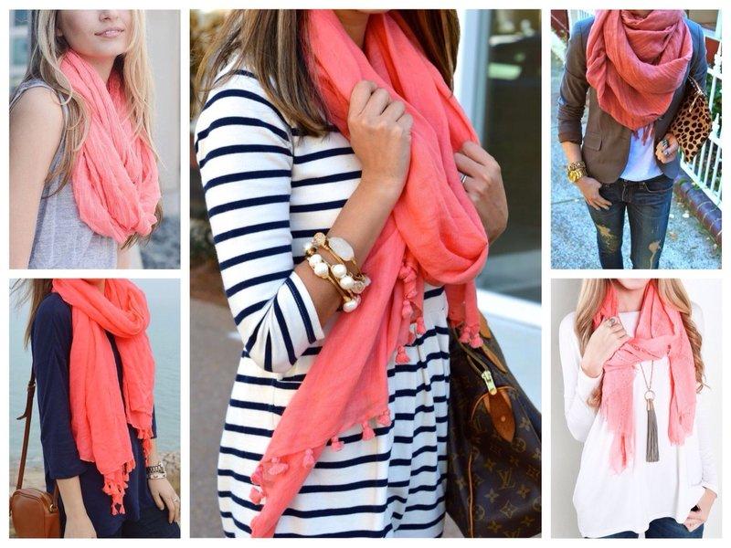 Коралловые шарфы