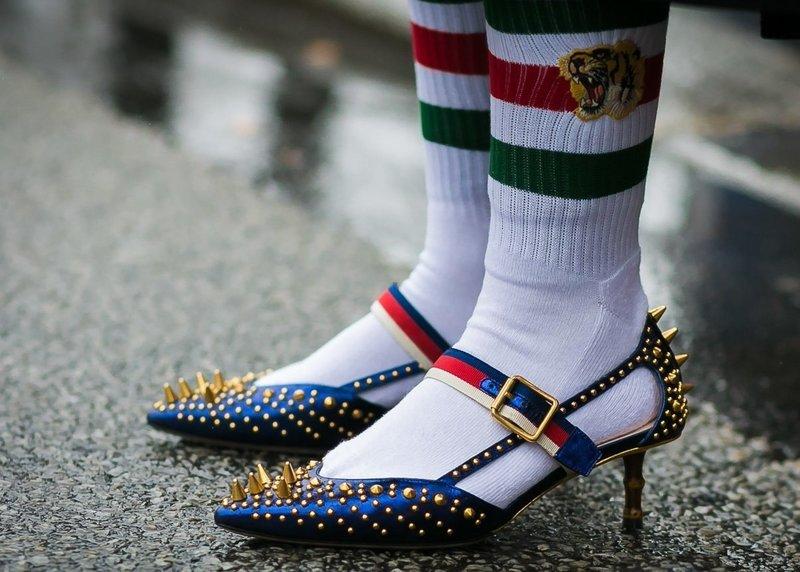Туфли kitten heels с шипами