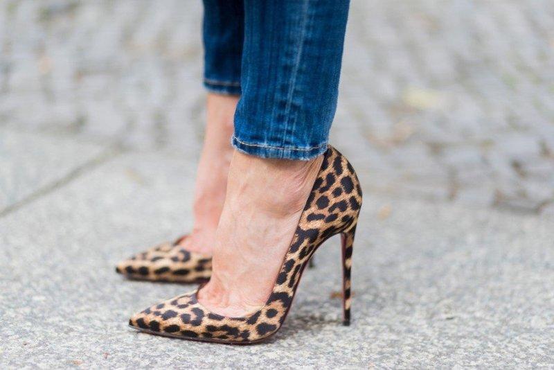Леопардовые туфли