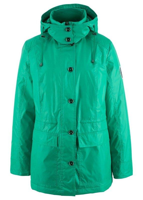 Модная зеленая куртка