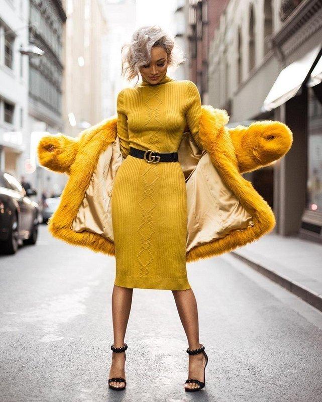Модное осеннее платье