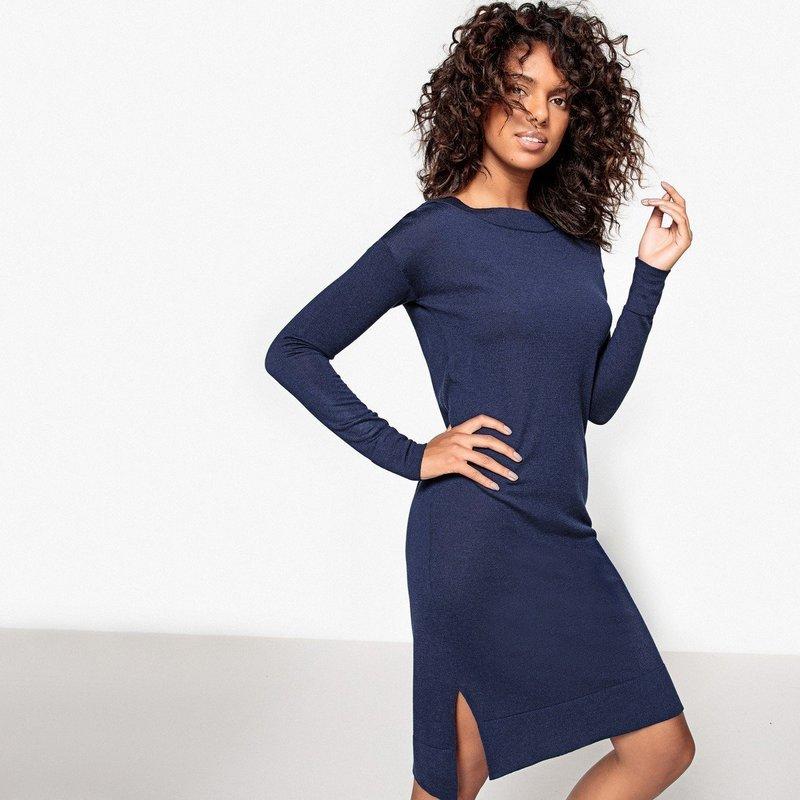 Модное шерстяное платье