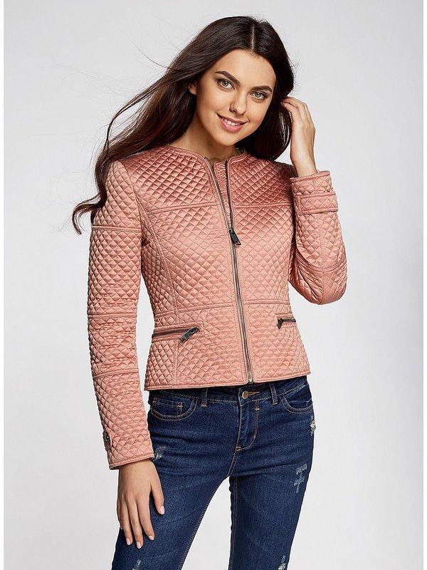 Обтягивающая стеганная куртка