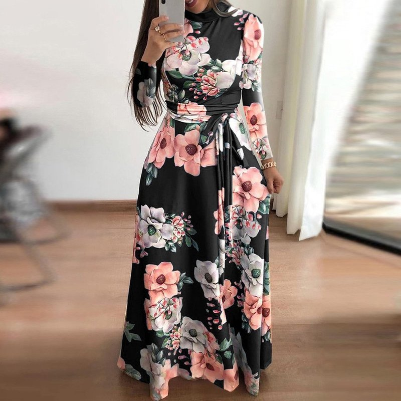 Осеннее платье с цветами