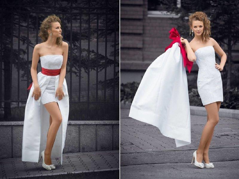 Платье с отстёгивающейся юбкой