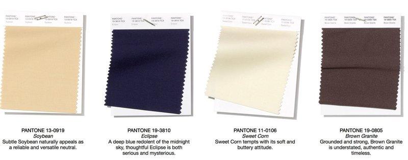 4 нейтральных цвета от Пантон
