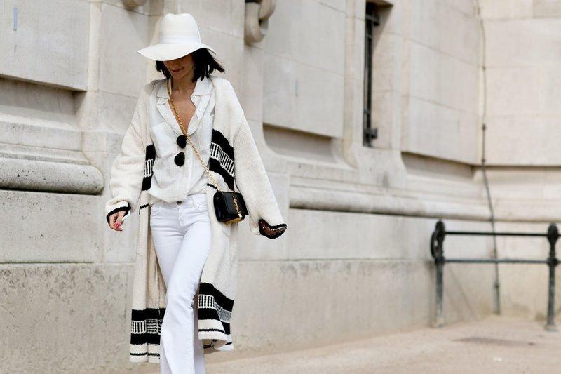 Модный образ в белом цвете
