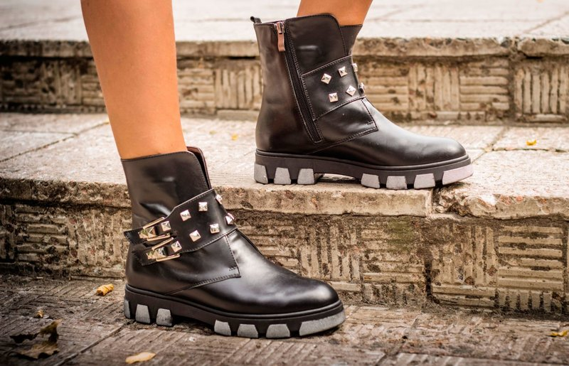 Массивные ботинки осень-зима