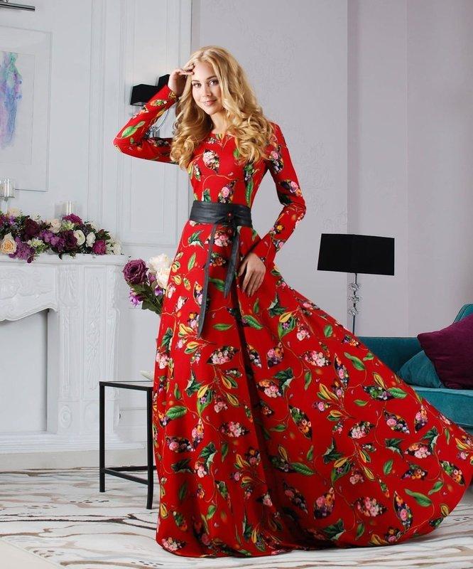 Повседневное длинное платье