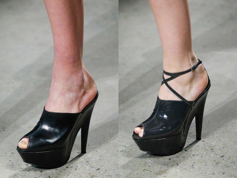 Черные туфли на весну и лето