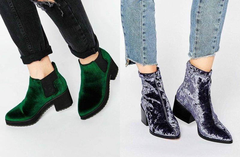 Ботинки из бархата: модные модели и актуальные цвета