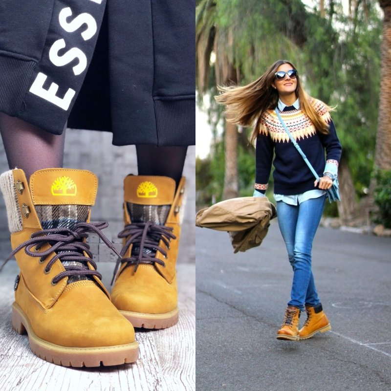 Женские ботинки желтого цвета