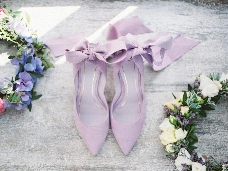 Сиреневые туфли-пуанты