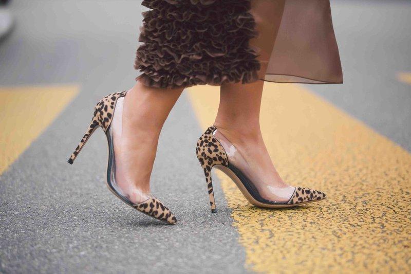 Туфли с леопардовым принтом и прозрачными вставками