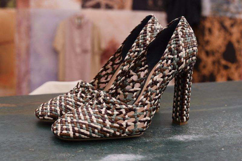 Плетеные туфли