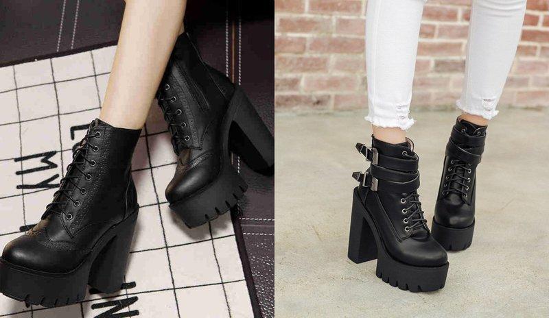 Массивные модели женской обувь осень-зима