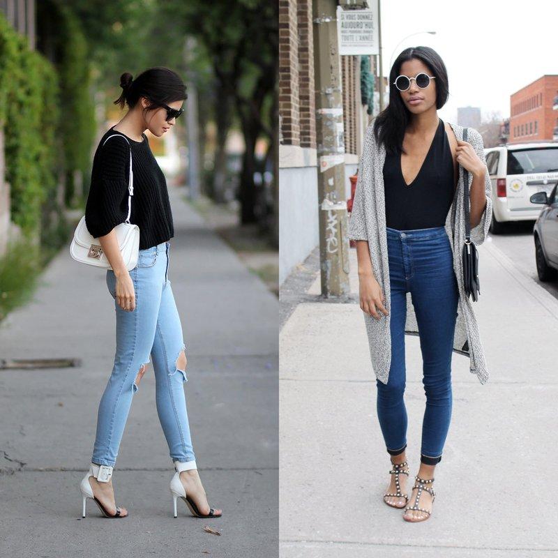 Узкие модели джинс