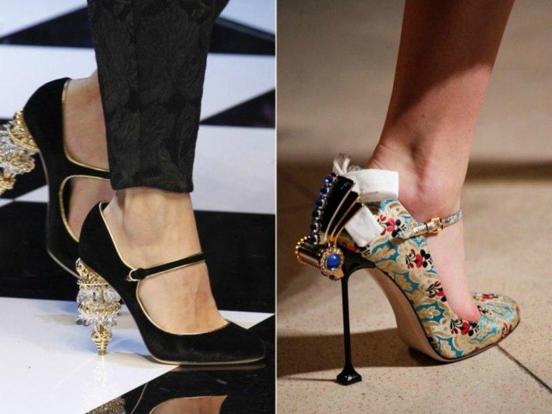 Туфли с необычными каблуками