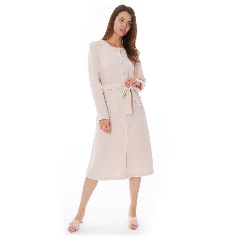 Светлое платье халат
