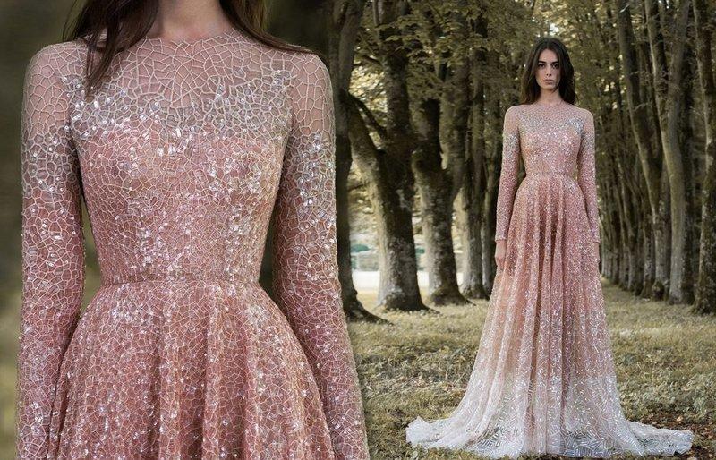 Полупрозрачное платье с сеткой