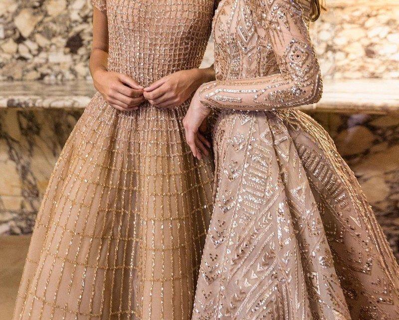 Платья с золотистой сеткой
