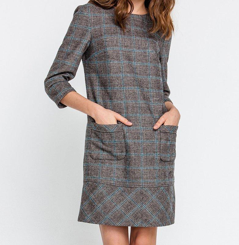 Твидовое платье с карманами
