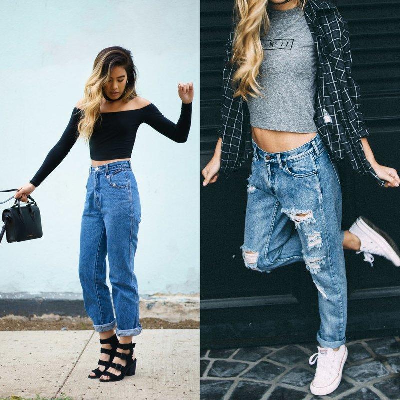 С чем носить джинсы boyfriend?
