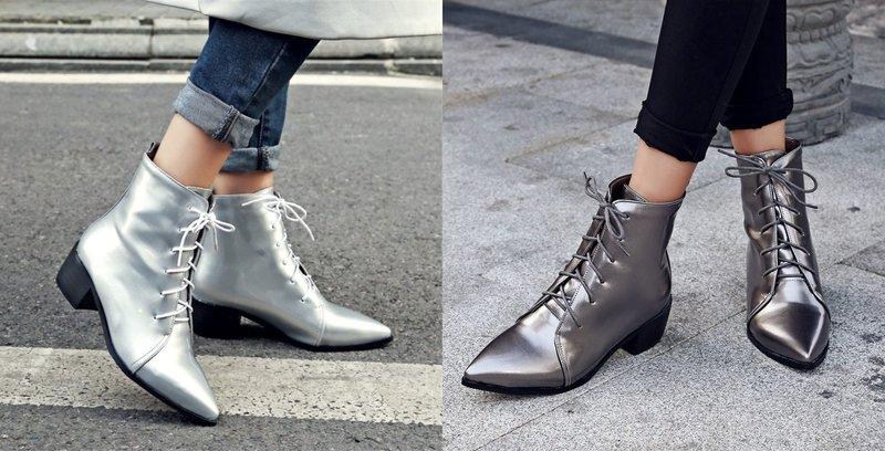 Модели стильной обуви с острым носком