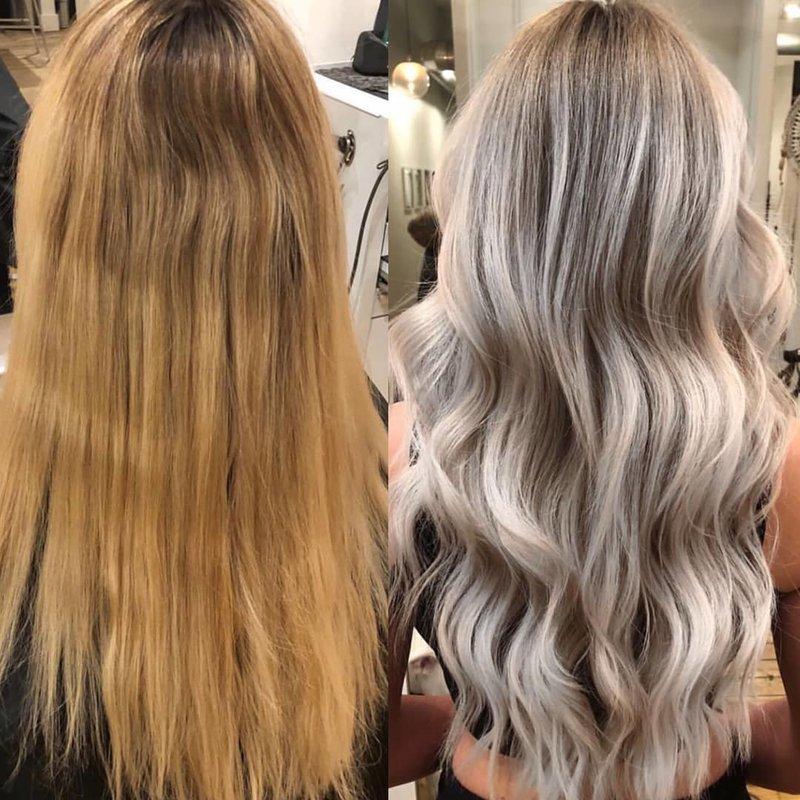 Коррекция блонда: осветление и тонирование