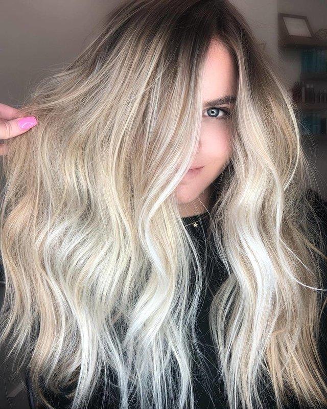 Мелкое милирование на длинные волосы