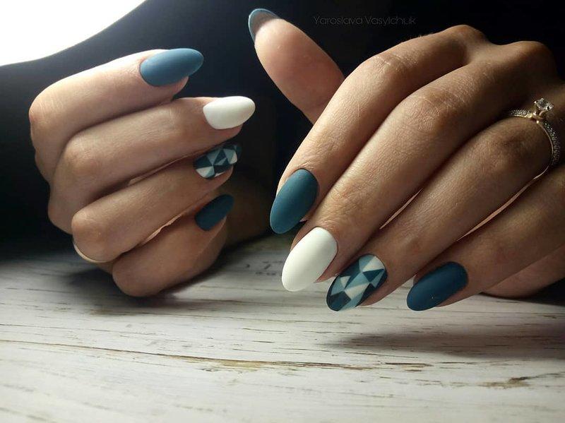 Дизайн для ногтей мозаика на осень