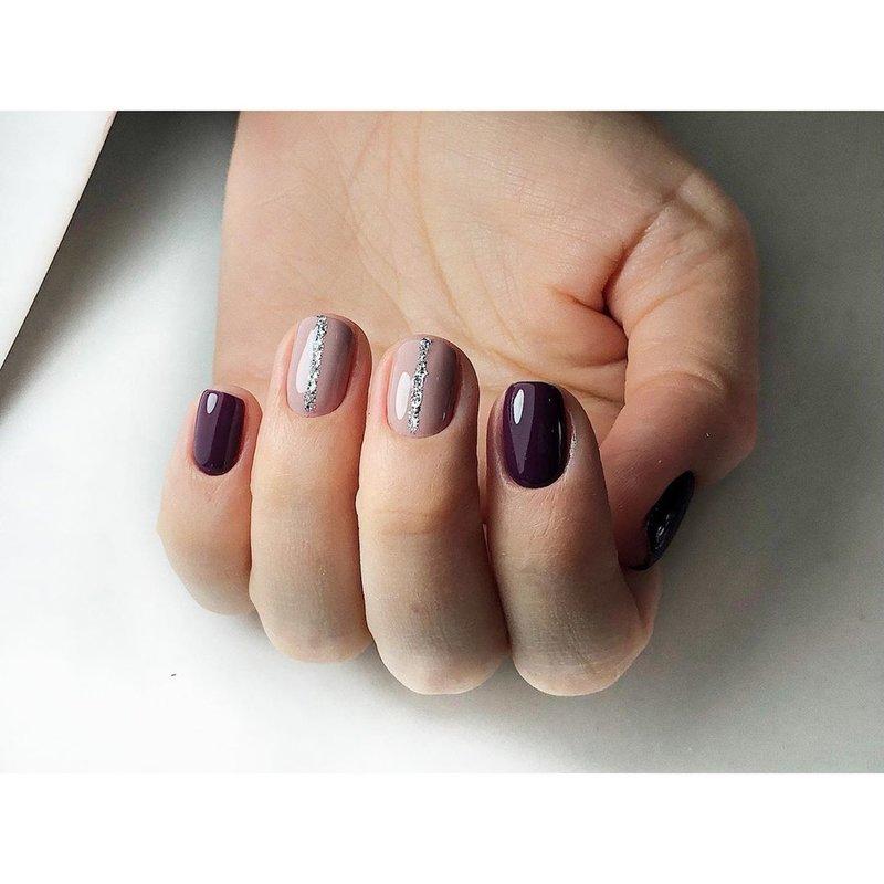 Ногти цвета баклажан по фен-шуй