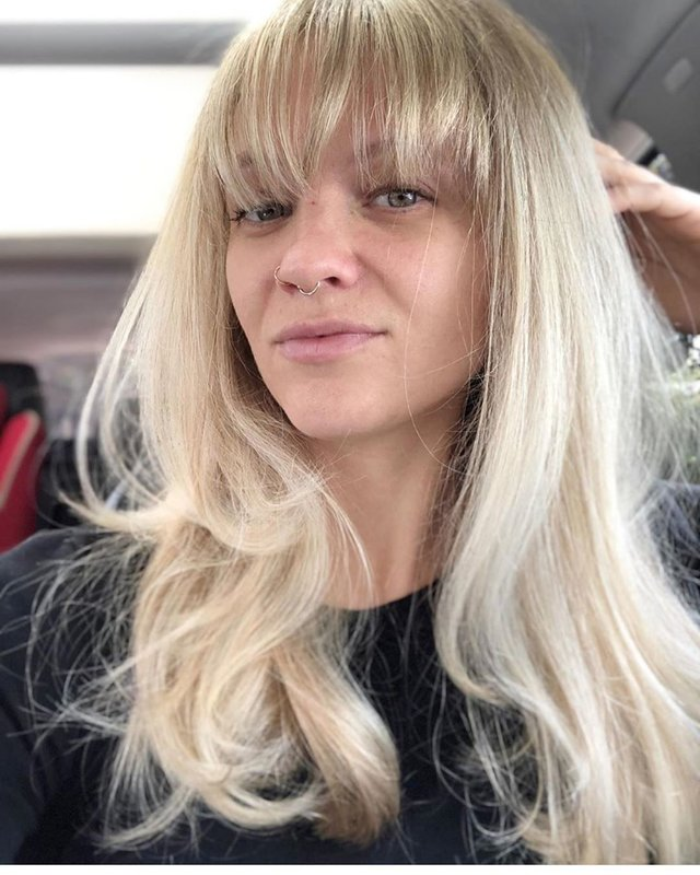 Удлиненная чалка и блонд