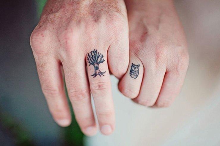 Красивые двойные татуировки для влюбленных