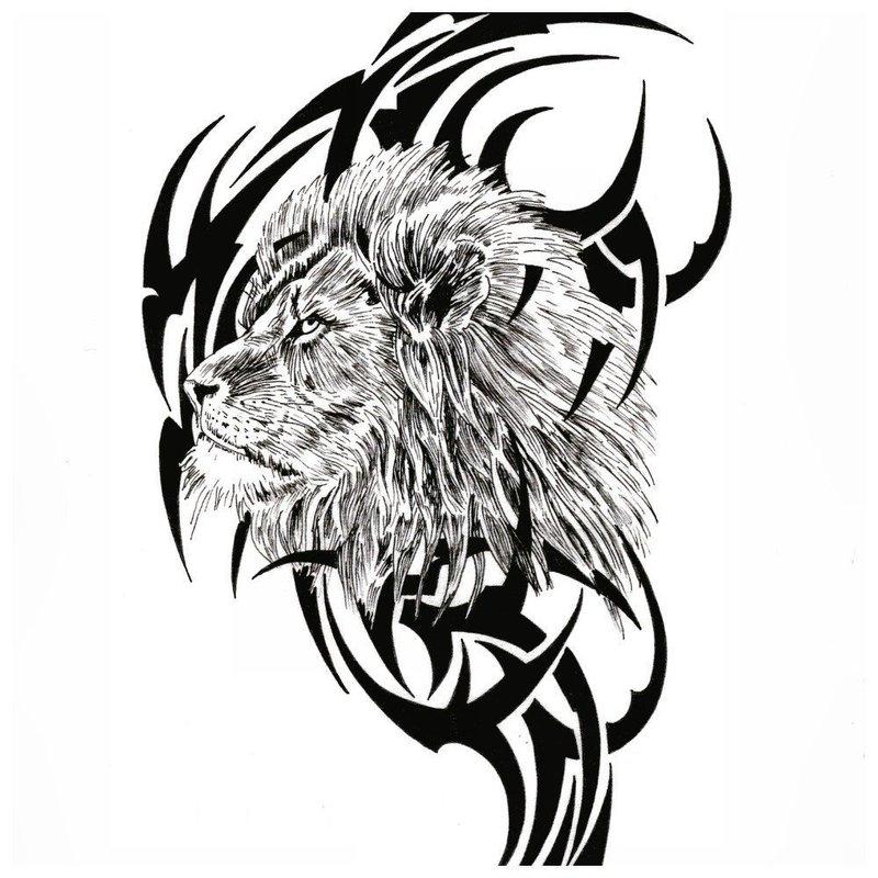 Лев на фоне орнамента