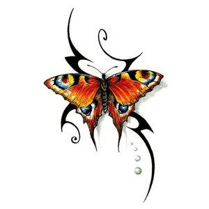 """Цветной эскиз """"Яркая бабочка"""""""