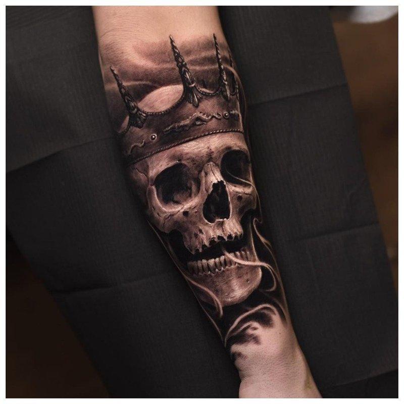 Оригинальный череп - тату
