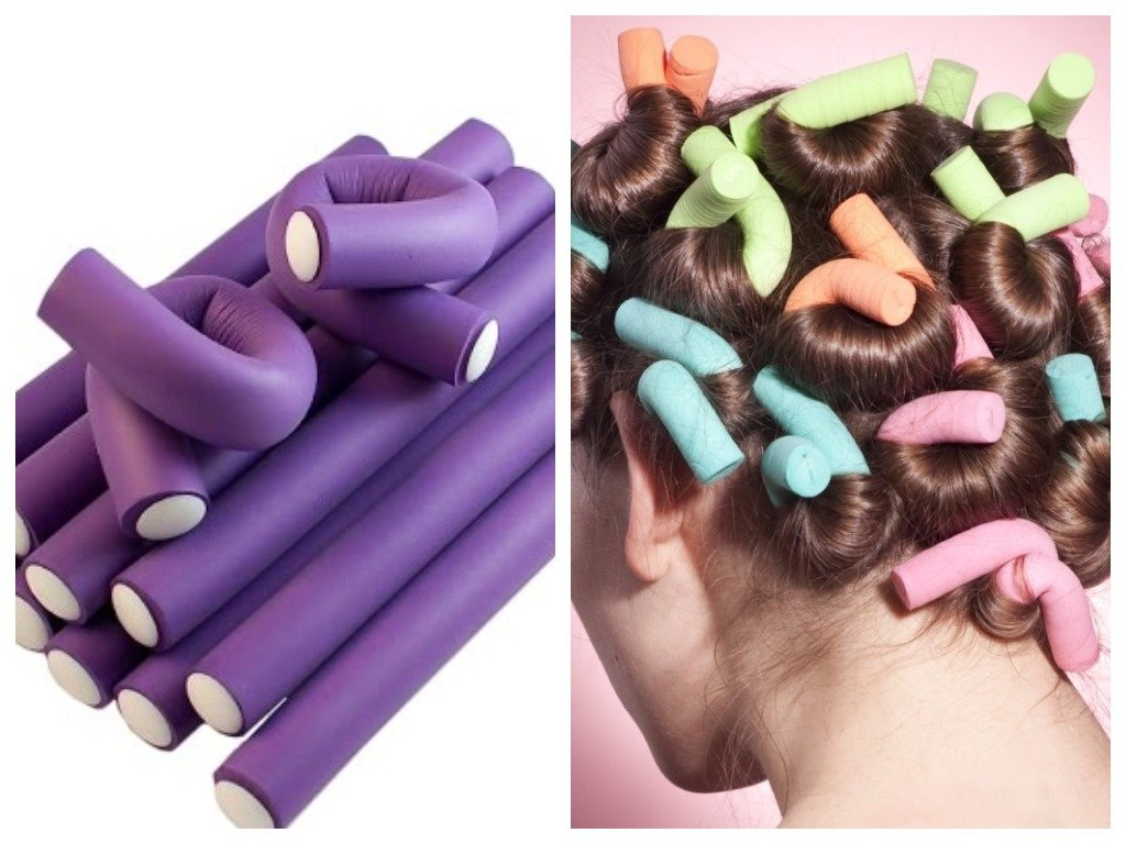 Накрутка волос на бигуди-бумеранги