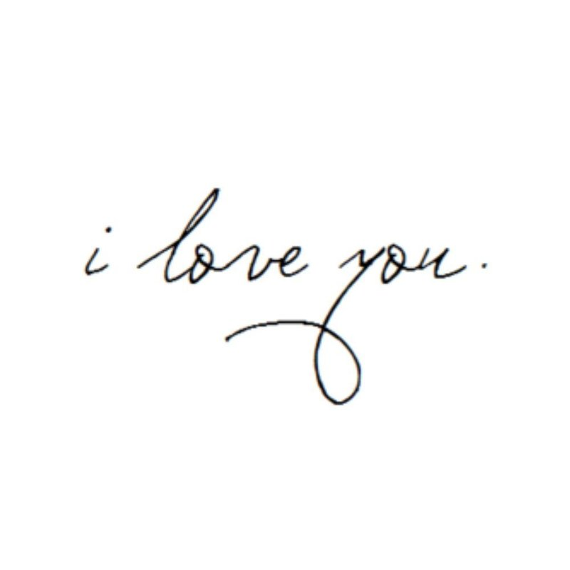Эксиз для тату - I love you