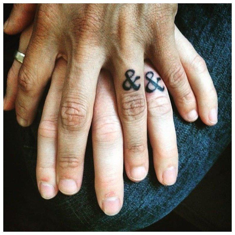 Тату на палец для влюбленных