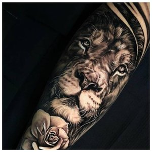 Анималистическое тату для мужчины