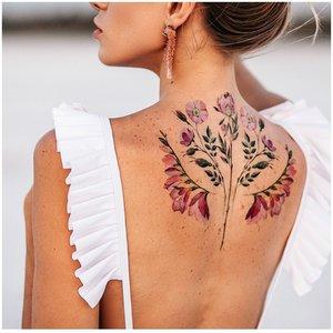 Акварельная тату цветов