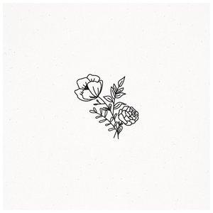 Эскиз тату цветка