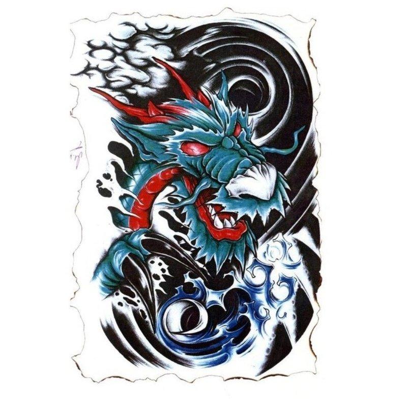Эскиз тату - дракон